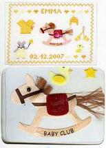 Kit broderie scrapbooking<BR>Cheval à bascule