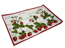 Set de table gobelins <BR>Fraises