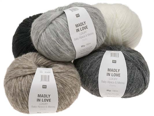 LUXURY Baby Alpaca & Merino chunky - MADLY IN LOVE