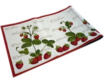 Napperon gobelins chemin de table<BR>Fraises