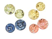 Bouton nacre en inclusions<BR>15-18 mm - 4 trous