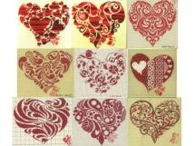 grille broderie alsacienne<BR>Coeur rouge